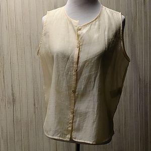 Eileen Fisher Butter Yellow Shirt PM